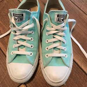 Teal Converse All Star Sneakers